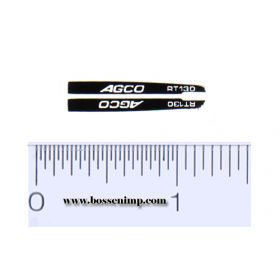 Decal 1/64 AGCO RT130 Hood Stripes (pair)
