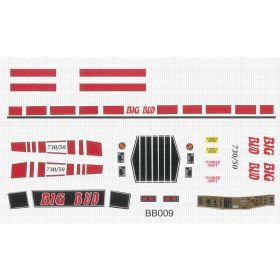Decal 1/16 Big Bud 7.0/50 Red Set Complete