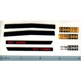 Decal 1/16 Case 1170 Agri-King (451 Turbo) Set (tan tractors)