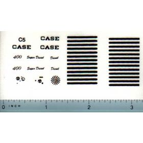 Decal 1/16 Case 400 Black Set (late, black)