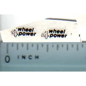 Decal 1/32 Case IH 4 Wheel Power