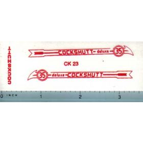 Decal 1/16 Cockshutt Deluxe 35 (red)