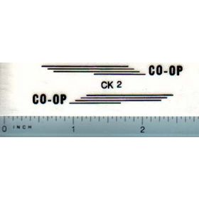 Decal 1/16 CO-OP E-3 Set (black)