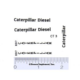 Decal 1/16 Caterpillar RD7 Set (black)