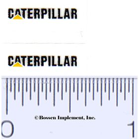 Decal Caterpillar Logo (black, yellow triangle)