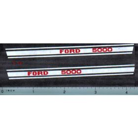 Decal 1/12 Ford 5000 Hood Stripe