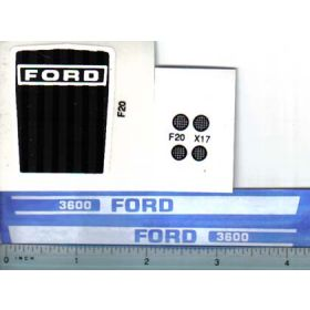 Decal 1/12 Ford 3600 set