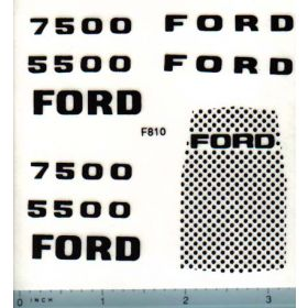 Decal 1/12 Ford Loader Backhoe Set w/Mo. #'s