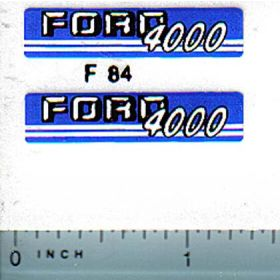 Decal 1/12 Ford 4000 (blue/gray version)
