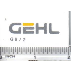 Decal Gehl - Silver & Yellow