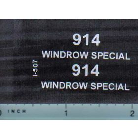 Decal 1/16 IH 914 Windrow Special