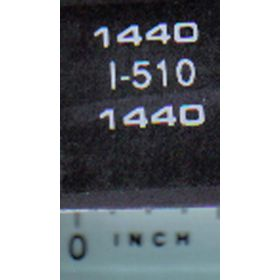 Decal 1/16 IH 1440 Model Numbers