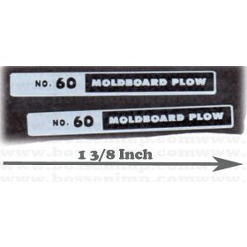 Decal 1/08 International Plow No 60 moldboard plow