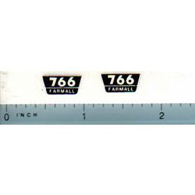 Decal 1/16 Farmall 766 Model Number