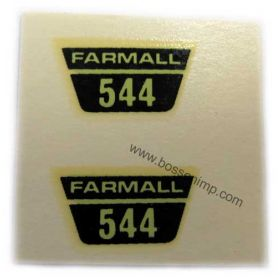 Decal 1/16 Farmall 544 Model Number (water)