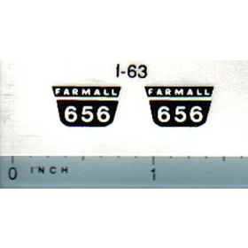 Decal 1/16 Farmall 656 Model Number