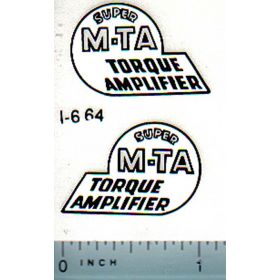 Decal 1/08 Farmall Super MTA Model Number
