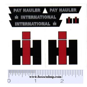 Decal 1/16 International Pay Hauler Set