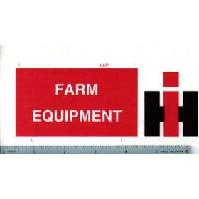 Decal 1/16 IH Farm Equipment Sign