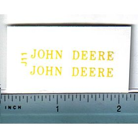 Decal 1/16 John Deere A, 40 or 60, or older JD Implements