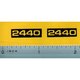 Decal 1/16 John Deere 2440 JD Model Numbres