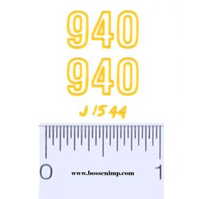 Decal 1/16 John Deere Land Plane 940 Model Numbers