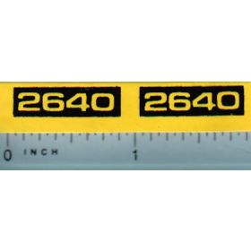 Decal 1/16 John Deere 2640 Model Number