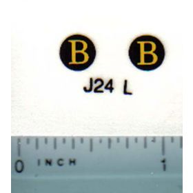 Decal 1/08 John Deere B Model Numbers