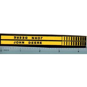 Decal 1/16 John Deere Implement Stripe (black on yellow)