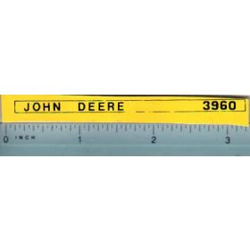 Decal 1/16 John Deere Forage Harvester 3960 Side Stripes