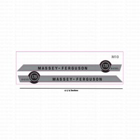 Decal 1/16 Massey Ferguson 175 Diesel Set