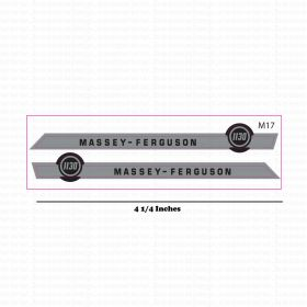 Decal 1/16 Massey Ferguson 1130 Hood Stripes