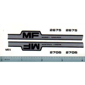 Decal 1/16 Massey Ferguson 2675 or 2705 Hood Stripes