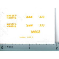 Decal 1/32 Massey Harris 444, 333 Decals
