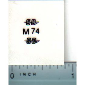 Decal 1/16 Massey Ferguson 50 Model Numbers