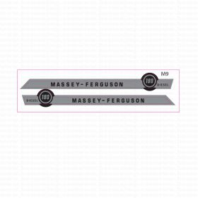 Decal 1/16 Massey Ferguson 180 Diesel Hood Stripes