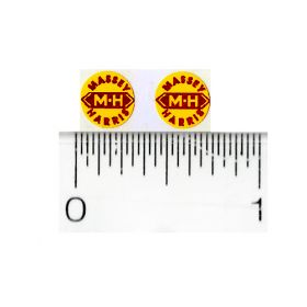 Decal Massey Haris Red on Yellow 5/16 inch