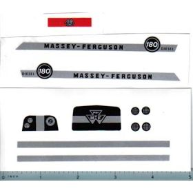 Decal 1/16 MF 180 Diesel Complete Set