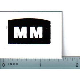 Decal 1/16 Minneapolis Moline Model 50 Series Grille