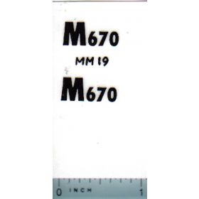 Decal 1/16 Minneapolis Moline M670 Model Numbers