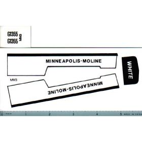 Decal 1/16 Minneapolis Moline Model G1355
