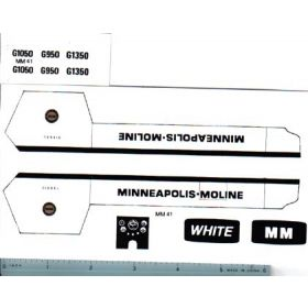 Decal 1/16 Minneapolis Moline Model G950, G1050 or G1350