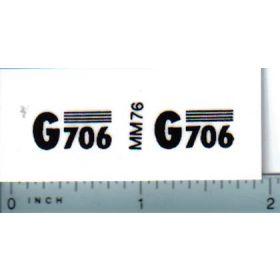 Decal 1/16 Minneapolis Moline G706 Model Numbers
