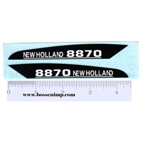 Decal 1/16 New Holland 8870 Hood Panels