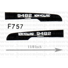 Decal 1/64 New Hollad 9482 Hood Panels