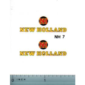 Decal 1/16 New Holland w/logo (3-color)