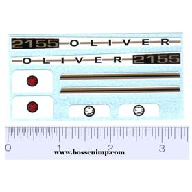 Decal 1/16 Oliver 2155 Set