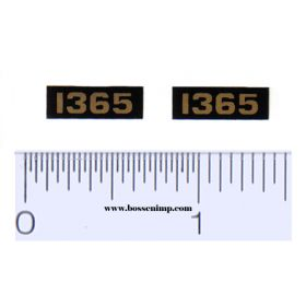 Decal 1/16 Oliver 1365 Model Numbers (Pair)