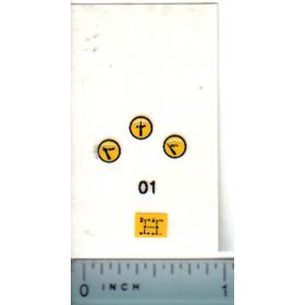 Decal 1/16 Oliver Gauges & Shift Diagram