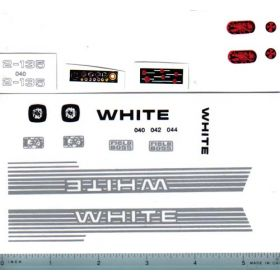 Decal 1/16 White 2-135 Set
